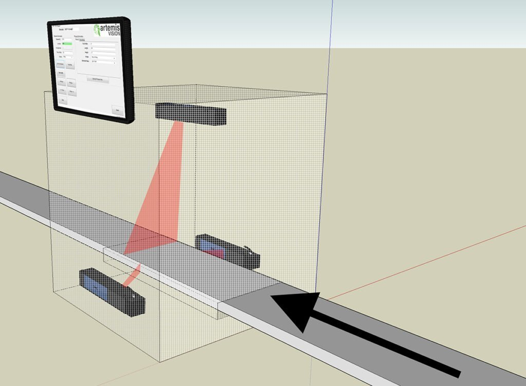 laser profiling for extruded materials